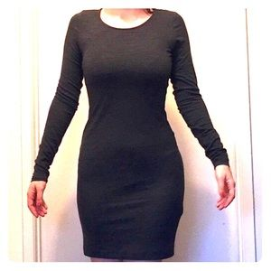 Charcoal H&M Body Con Dress